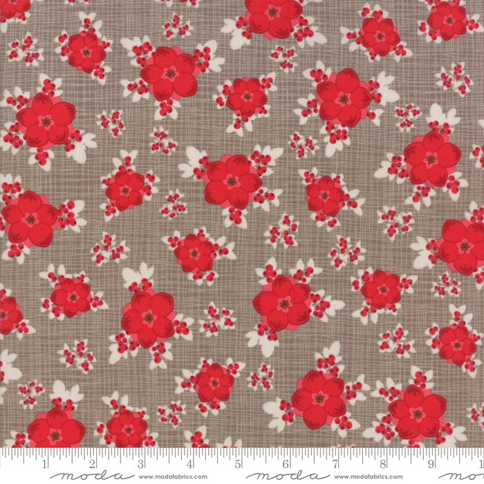 Return to Winter's Lane Taupe Berry Burst by Kate & Birdie for Moda 13170-19