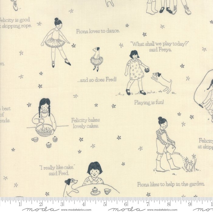 Freya & Friends Pebble Playtime by Janet Clare for Moda 1441-14