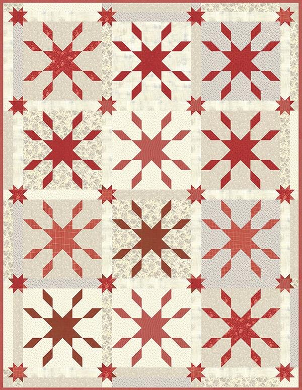 Jack Frost Red Quilt Kit Snowberry Fabrics by Moda KIT44140R