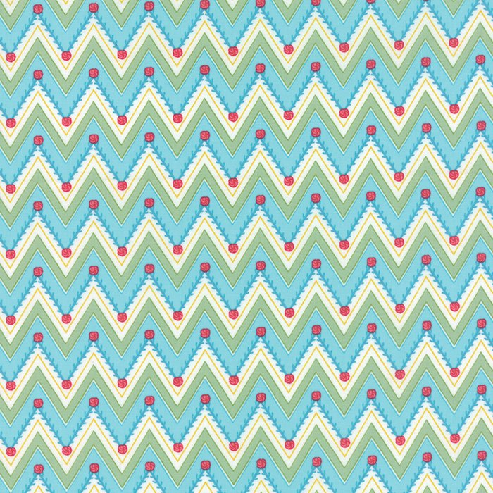 Pedal Pushers Sky Chevron by Lauren & Jessi Jung for Moda 25083-14