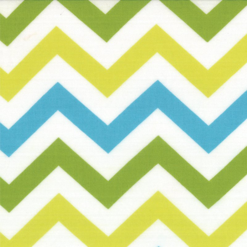 Mixed Bag Zig  Zag Sweet Pea by Studio M for Moda #32864-12 Chevron in Blues and Greens
