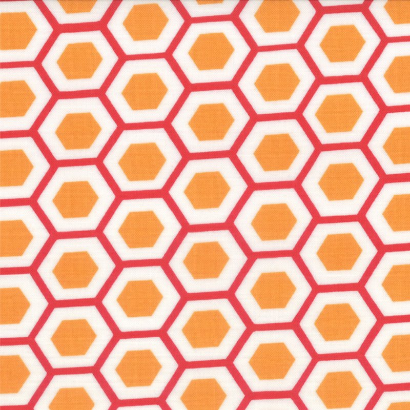 Mixed Bag Hexy Orange by Studio M for Moda #32865-26