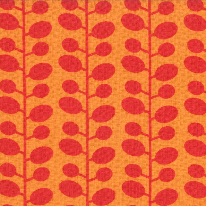 Mixed Bag Bean Stalk Orange by Studio M for Moda #32868-21