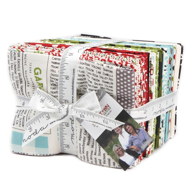 Hometown Christmas Edition Fat Quarter Bundle by Sweetwater for Moda 5660AB