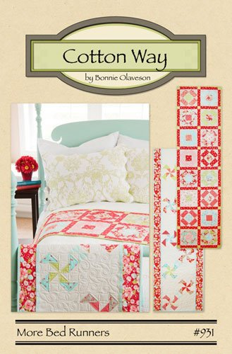 More Bed Runners by Bonnie Olaveson for Cotton Way. Two patterns included. Pattern #931