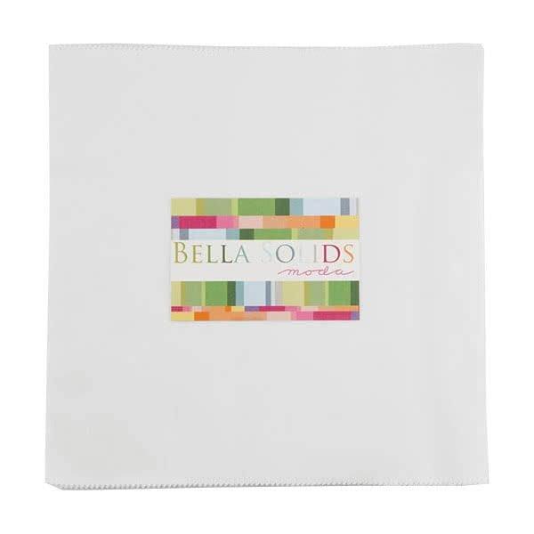 Bella Solids Junior Layer Cake Off White by Moda 9900JLC-200