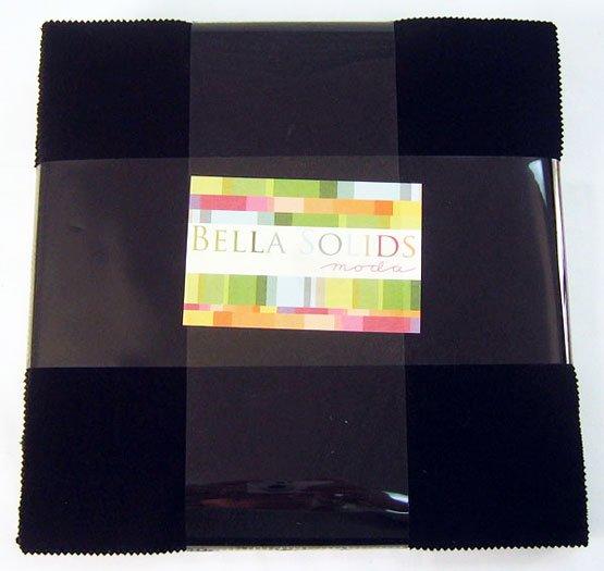 Bella Solids Layer Cake Black by Moda Classic 9900LC-99