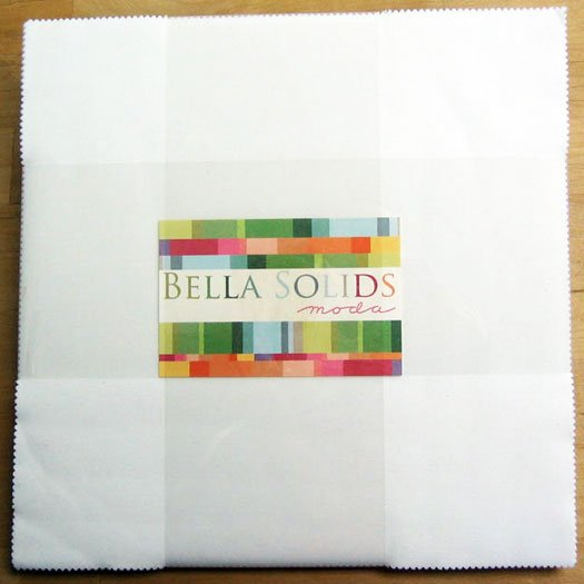 Bella Solids Layer Cake White by Moda 9900LC-98