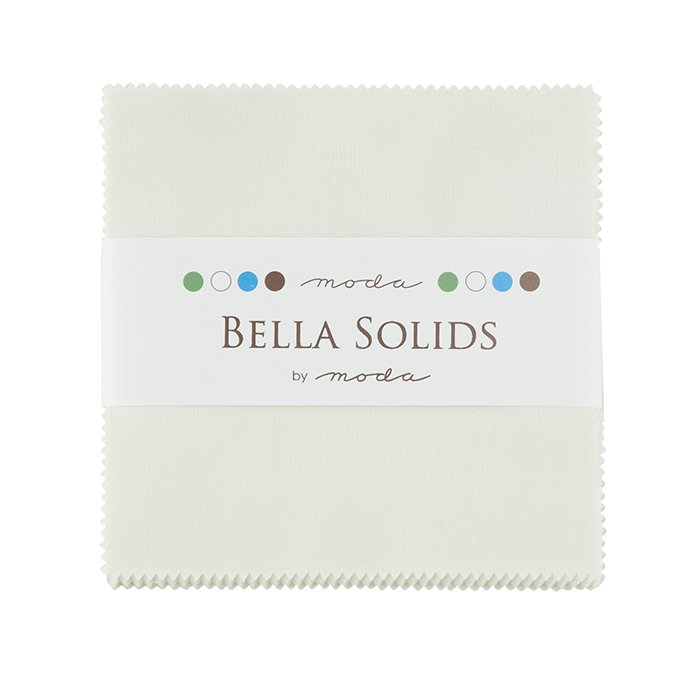 Bella Solids Charm Pack Off White by Moda 9900PP-200