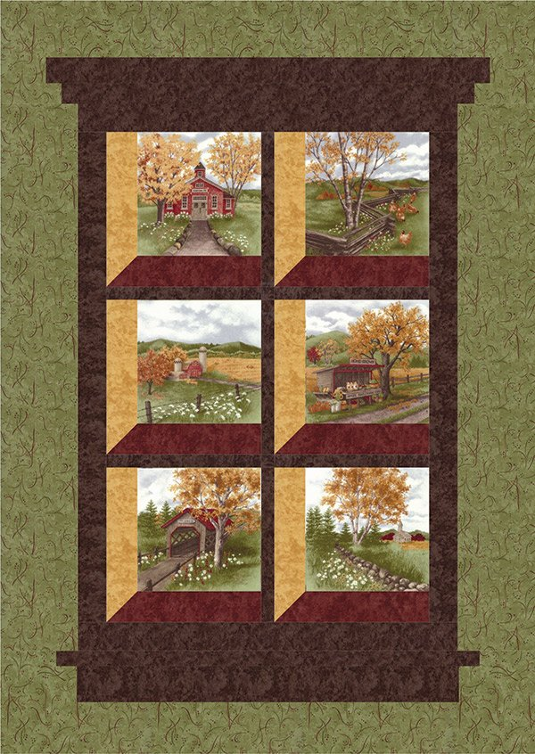 Country Roads Wall Hanging by Doug Leko for Antler Quilt Designs AQD0117