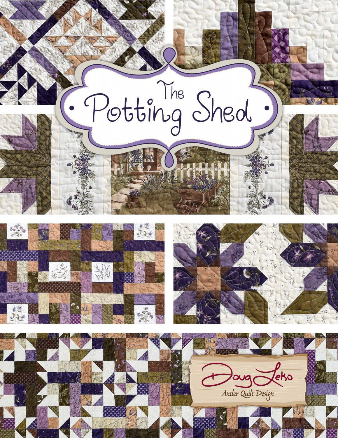 The Potting Shed By Doug Leko Antler Quilt Designs Aqd0405