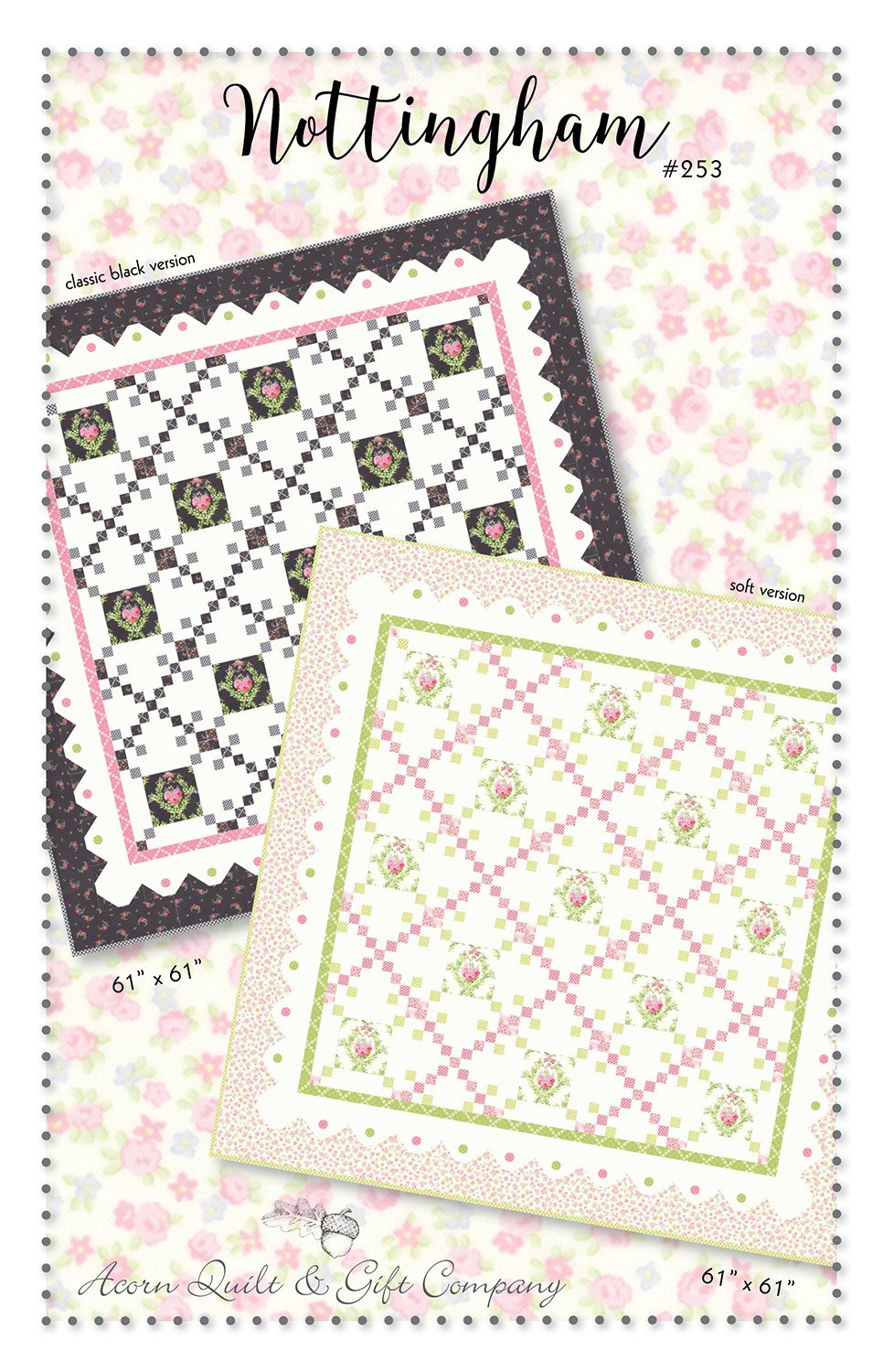 Nottingham Quilt Pattern by Brenda Riddle AQG253