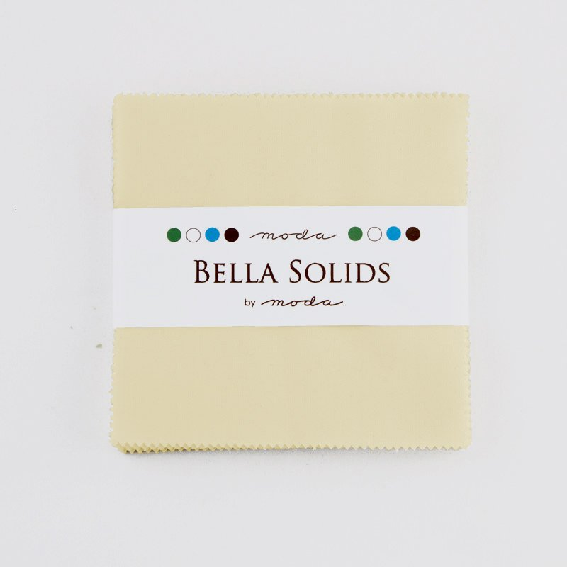 Bella Solids Charm Pack Snow by Moda 9900PP-11