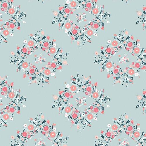 Blithe Joy Wreaths Ice by Katarina Roccella for Art Gallery Fabrics BLI-75608