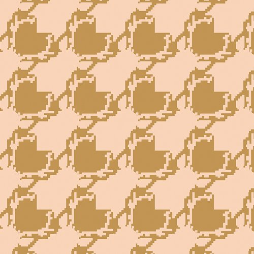 Blithe Deer Houndstooth Tan by Katarina Roccella for Art Gallery Fabrics BLI-85604