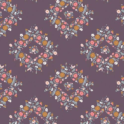 Blithe Joy Wreaths Plum by Katarina Roccella for Art Gallery Fabrics BLI-85608