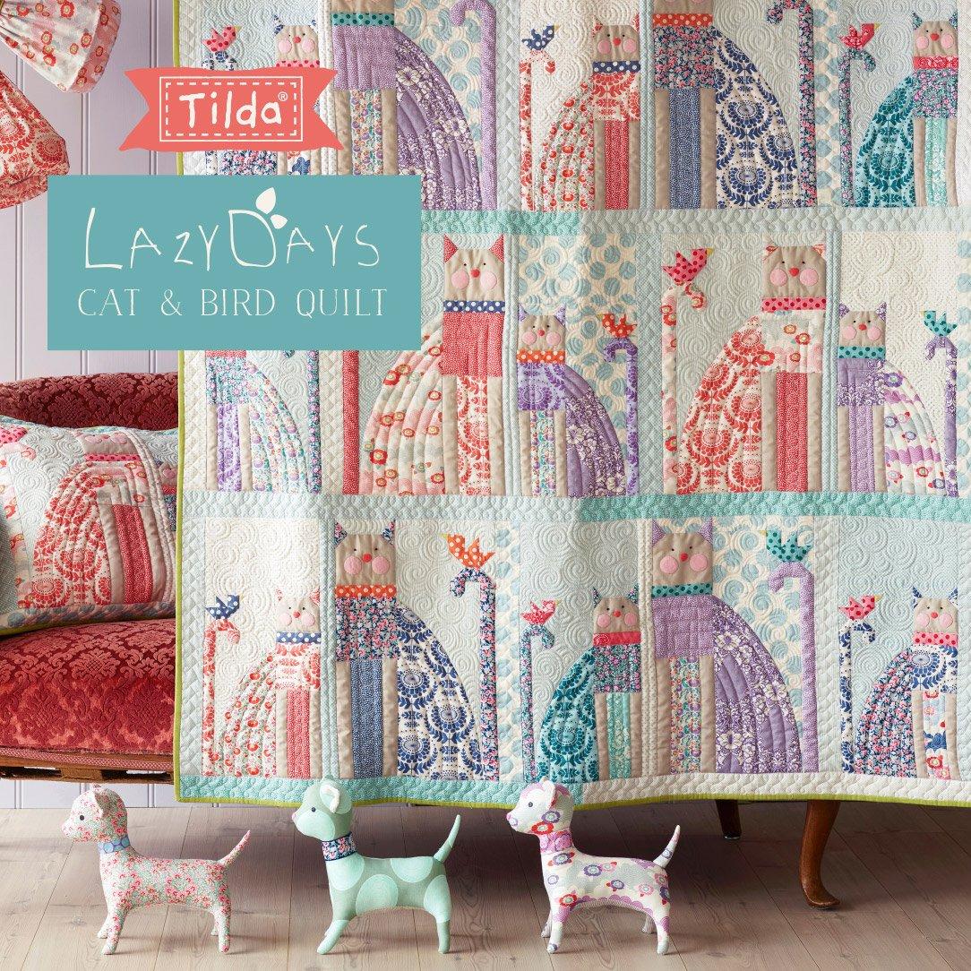 Cat & Bird by Tilda Free Quilt Pattern Download