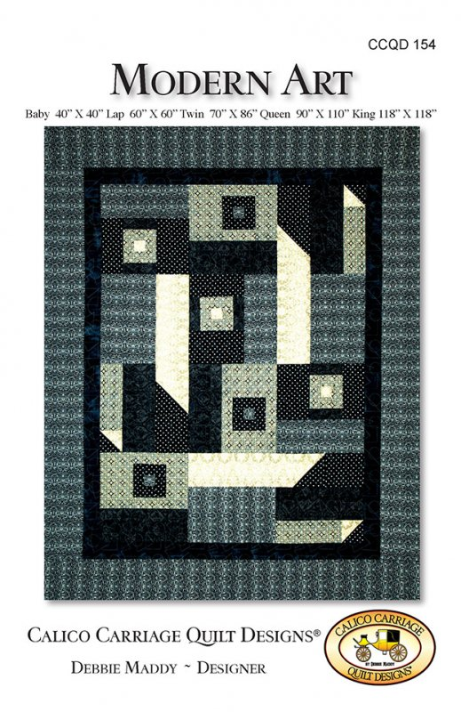 Modern Art Quilt Pattern by Debbie Maddey for Calico Carriage Quilt Designs #CCQD154