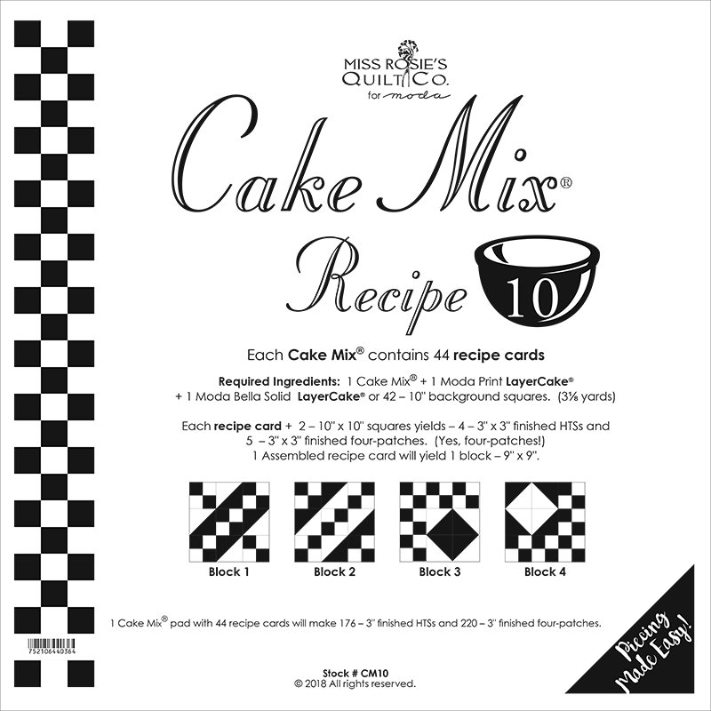 Cake Mix Recipe 10 by Miss Rosie's Quilt Co CM10