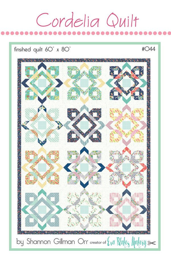 Cordelia Quilt Pattern by Eva Blakes Makery EB044