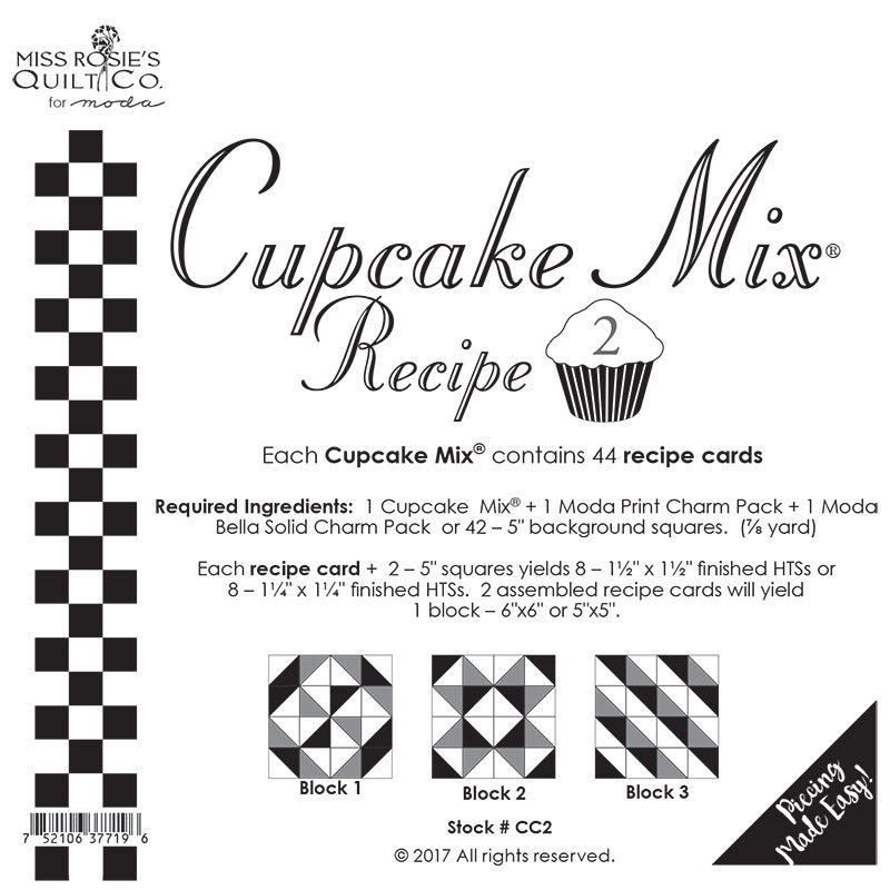 Cupcake Recipe 2 by Miss Rosie's Quilt Co for Moda CC2
