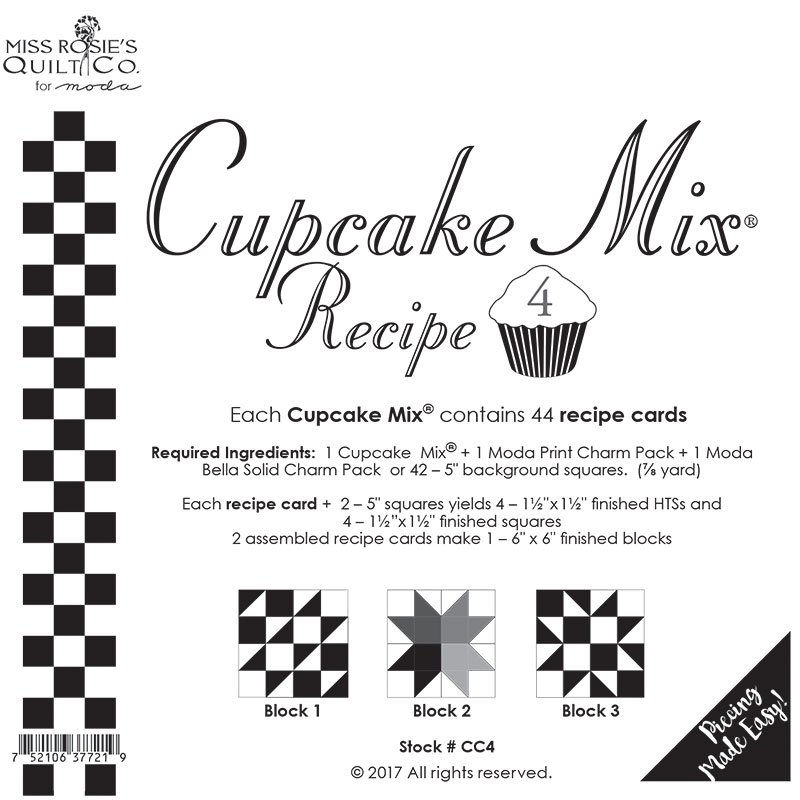 Cupcake Recipe 4 by Miss Rosie's Quilt Co for Moda CC4