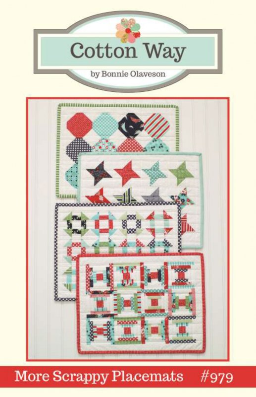 More Scrappy Placemats by Cotton Way CW979