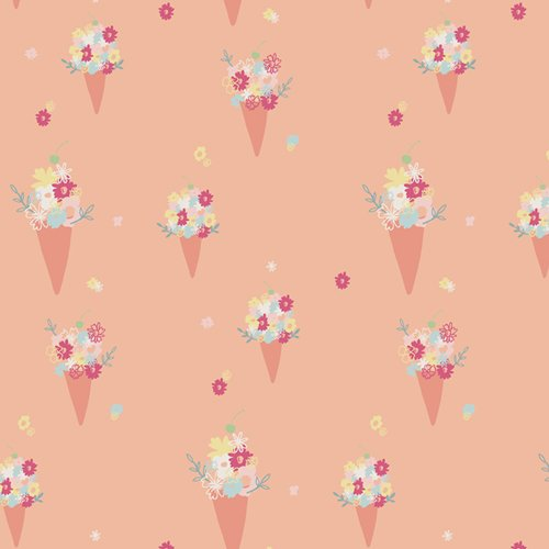 Daydream Blooming Ice Cream by Patty Basemi for Art Gallery Fabrics DDR-25447