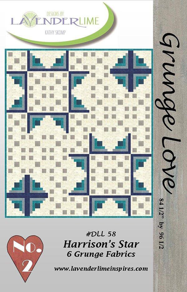 Grunge Love #2 Harrisons Star by Kathy Skomp for Lavender & Lime DLL58