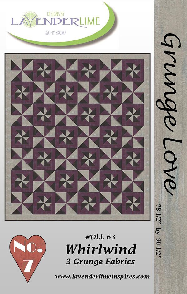 Grunge Love #7 Whirlwind by Kathy Skomp for Lavender & Lime DLL63