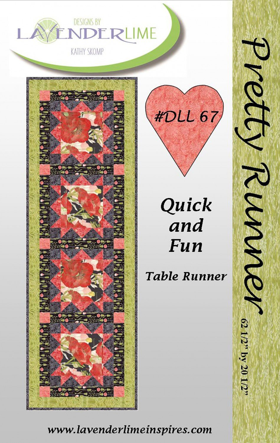 Pretty Runner Table Runner by Lavender Lime Designs DLL67