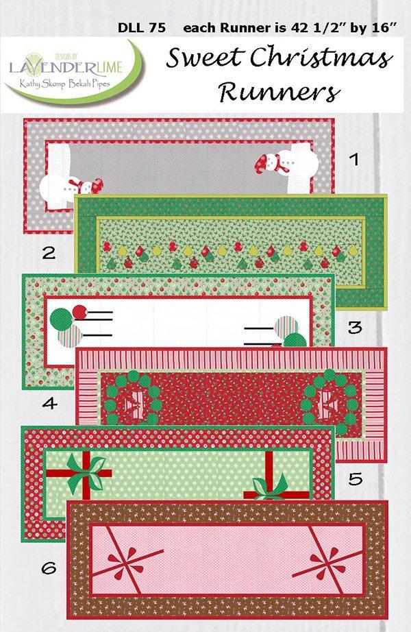 Sweet Christmas Runners by Kathy Skomp for Lavender & Lime DLL75