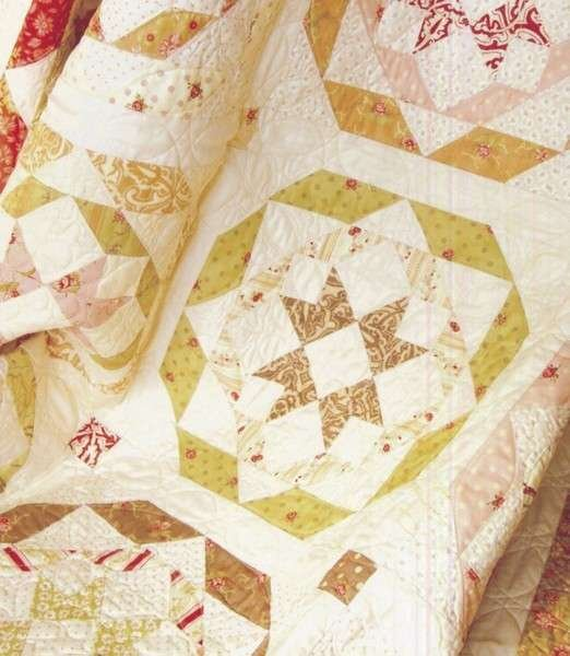 Rosettes By Fig Tree Co Ftq803 Quilt Pattern Is Layer Cake Friendly