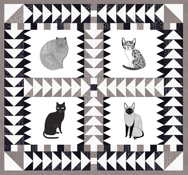 Catnip Quilt Pattern by Gingiber GB010