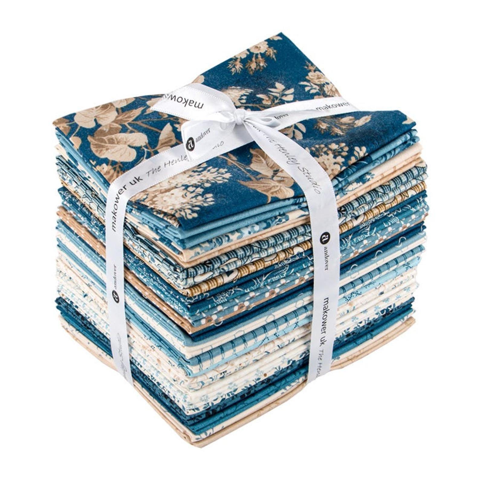 Blue Sky Fat Quarter Bundle by Edyta Sitar of Laundry Basket Quilts fq-bluesky