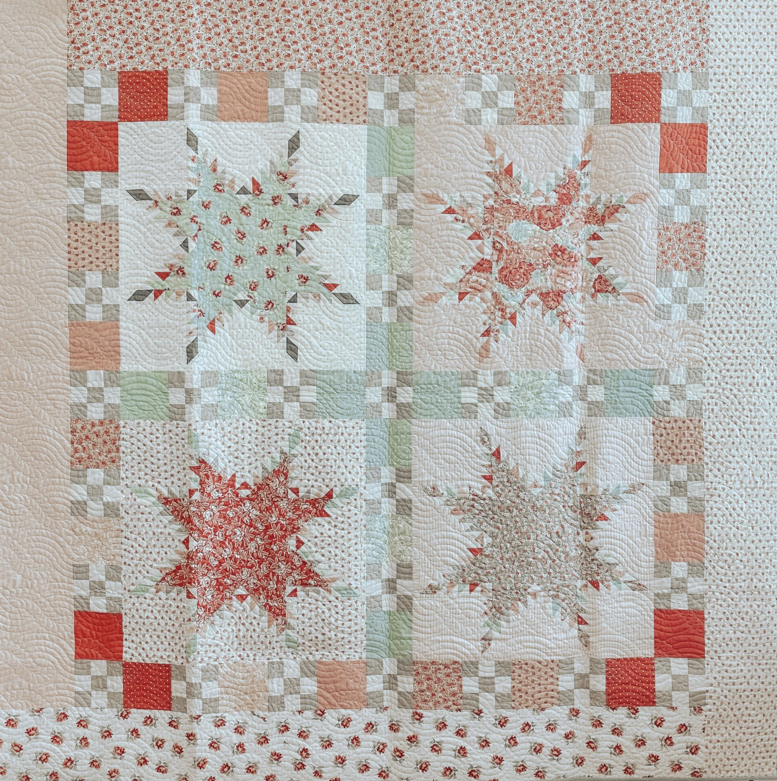 Sanctuary Peace Quilt Kit by 3 Sisters for Moda KIT44250