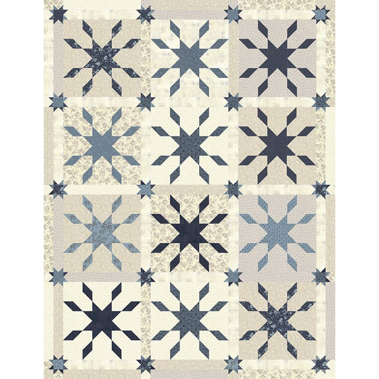 Jack Frost Blue Quilt Kit Snowberry Fabrics by Moda KIT44140B
