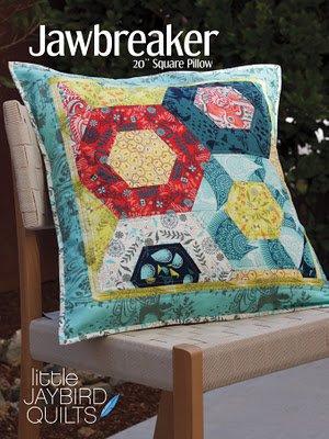 Jawbreaker by Julie Herman for Jaybird Quilts #JBQ113 Hexagan Throw Pillow Pattern