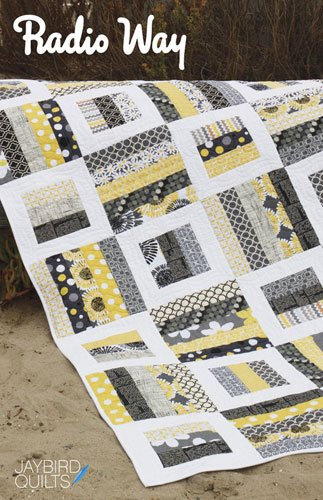 Radio Way Quilt Pattern by Jaybird Quilts in 4 Quilt Sizes #JBQ116