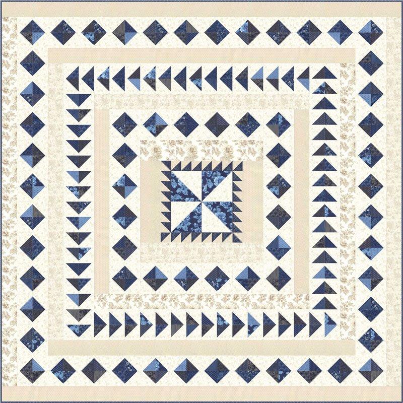 Regency Blues Quilt Kit by Christopher Wilson-Tate for Moda KIT42300