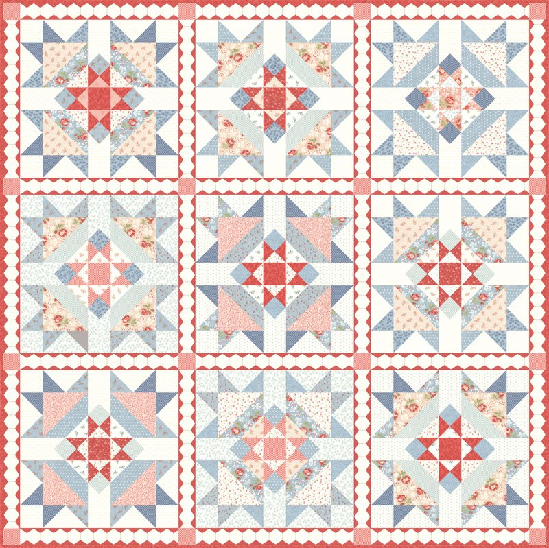 Victoria Quilt Kit by 3 Sisters for Moda KIT44160
