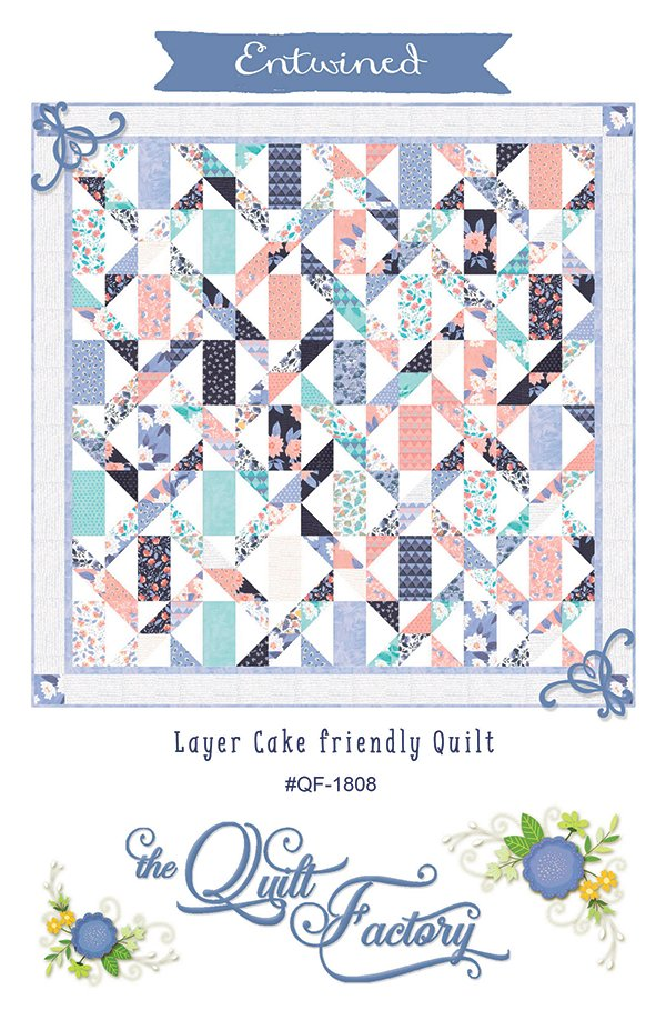 Entwined Quilt Pattern by Deb Grogan for The Quilt Factory QF-1808