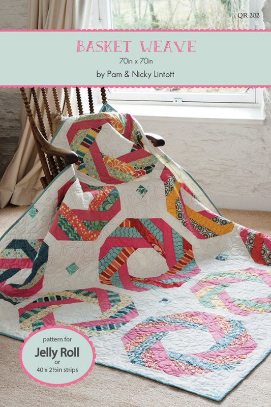 Basket Weave by Pam & Nicky Lintott #QR-202 Jelly Roll Friendly ... : weave quilt pattern - Adamdwight.com