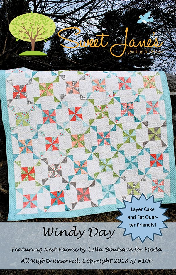 Windy Day Quilt Pattern by Sweet Jane's SJ100