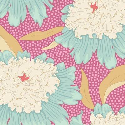 GardenLife Bowl Peony Pink by Tilda for Brewer Sewing TIL100301