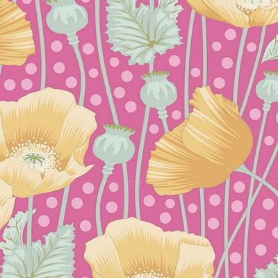GardenLife Poppies Pink by Tilda for Brewer Sewing TIL100303