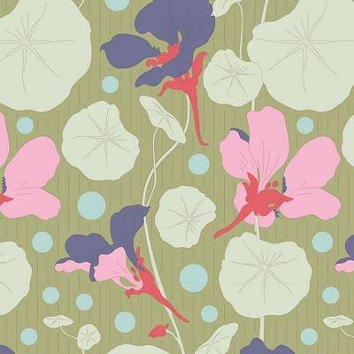 GardenLife Nasturtium Green by Tilda for Brewer Sewing TIL100311
