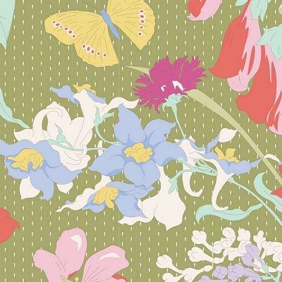 GardenLife Gardenlife Green by Tilda for Brewer Sewing TIL100315