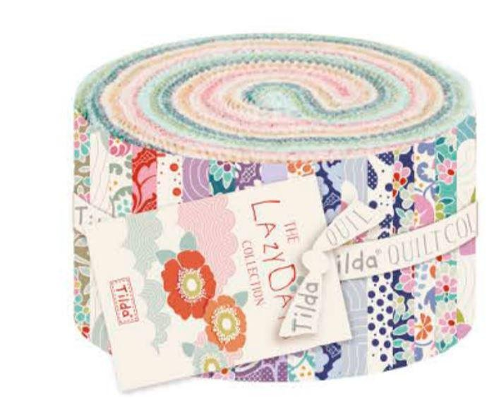 LazyDays-Fabric Roll Multi by Tilda TIL300043