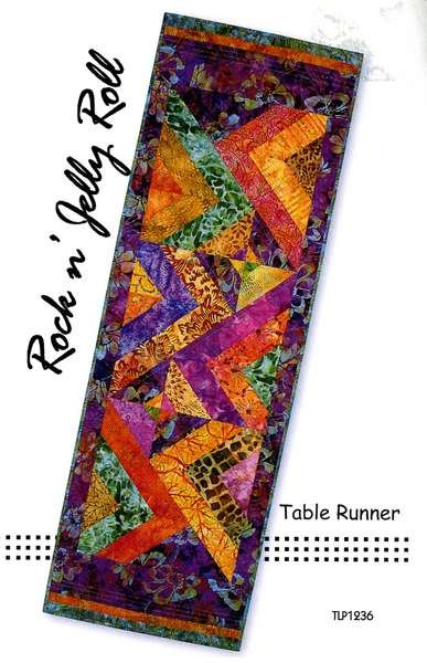 Jelly Rock n' Jelly Roll Table Runner by Tiger Lily TL1236